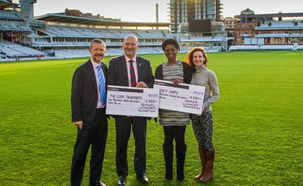 Cheque handover 2015 Lords